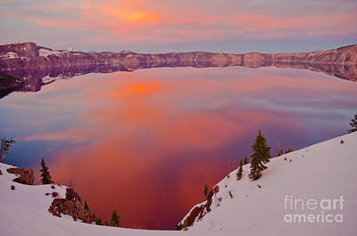 Crater Lake 1 Art Print