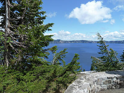 Photograph - Crater Lake 3 by Methune Hively