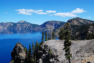 Photograph - Crater Lake And Clouds by Debra Thompson