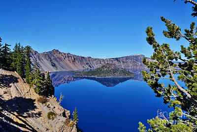 Photograph - Crater Lake And Wizard Island by Ansel Price