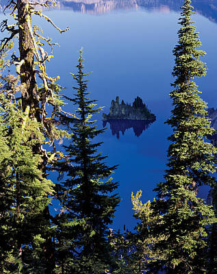Crater Lake National Park Photograph - Crater Lake At Crater Lake National by Panoramic Images