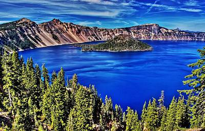 Photograph - Crater Lake by Benjamin Yeager