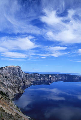 Photograph - Crater Lake Clouds by Ginny Barklow