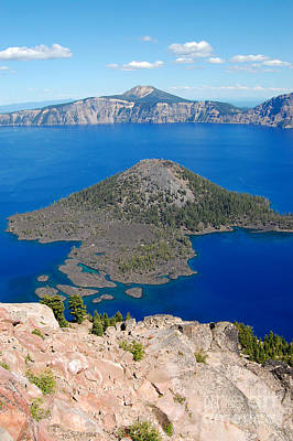 Photograph - Crater Lake  by Debra Thompson