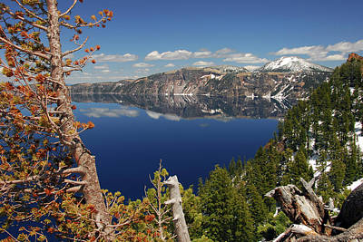 Crater Lake From The Rim, Crater Lake Print by Michel Hersen
