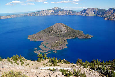 Photograph - Crater Lake From Watchman Tower by Debra Thompson