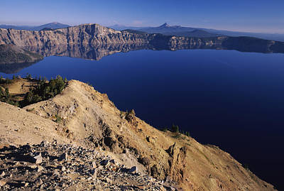 Crater Lake National Park Photograph - Crater Lake, Garfield Peak, Crater Lake by Panoramic Images