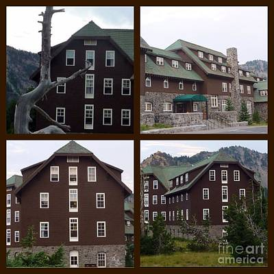 Photograph - Crater Lake Lodge Collage by Susan Garren