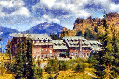 Crater Lake Lodge Art Print