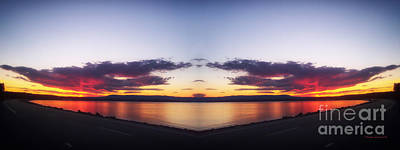 Yellowstone Digital Art - Crater Lake Mirror Image by Thomas Woolworth