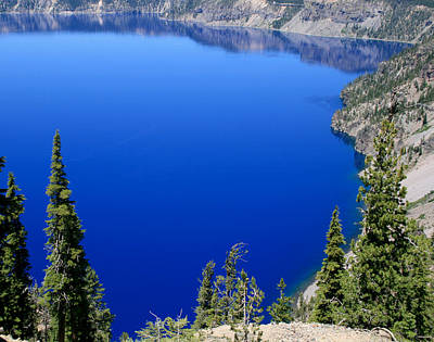 Photograph - Crater Lake National Park by David Millenheft