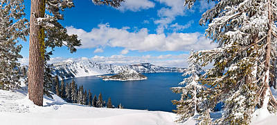 Crater Lake Wall Art - Photograph - Crater Lake Panorama by Jamie Pham