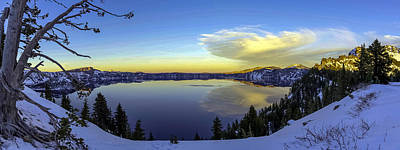 Crater Lake Panorama Art Print