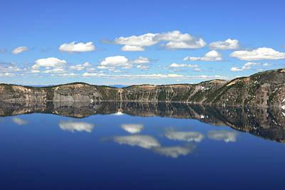 Crater Lake Reflections, Crater Lake Art Print
