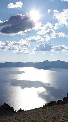 Photograph - Crater Lake Shadows by Michael Davis
