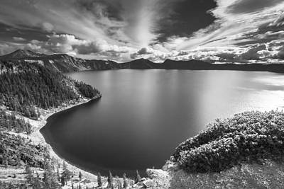 Photograph - Crater Lake Sky by Dave Hall