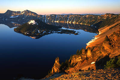 Photograph - Crater Lake Sunrise by Ray Mathis