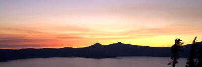 Photograph - Crater Lake Sunset by Brian Harig