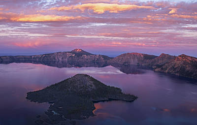 Photograph - Crater Lake Sunset by Spencer Bodian
