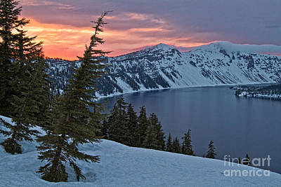 Photograph - Crater Lake Sunset by Stuart Gordon