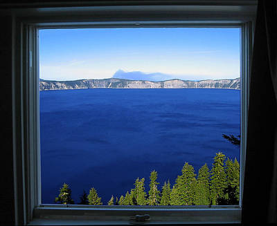Photograph - Crater Lake Through Our Window by Robert Woodward
