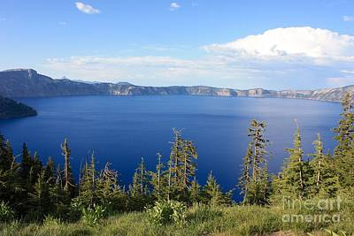 Photograph - Crater Lake Vista by Carol Groenen