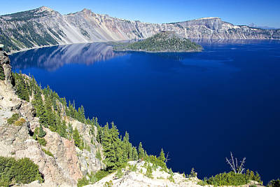 Photograph - Crater Lake Wizard Island 090910a by Todd Kreuter