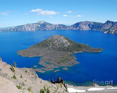 Photograph - Crater Lake Wizard Island by Debra Thompson
