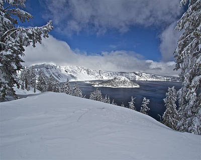 Photograph - Crater Lake/ Wizard Island by Todd Kreuter
