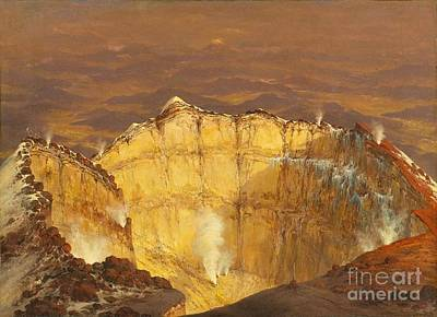 Crater Of Popocatepeti Art Print by Pg Reproductions