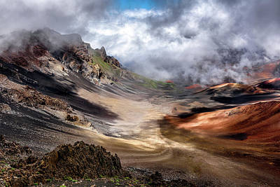 Volcano Photograph - Craters Edge by Navin Bopitiya