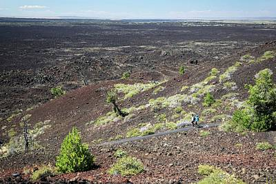 Human Landscape Photograph - Craters Of The Moon Landscape by Jim West