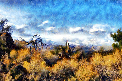 Digital Art - Craters Of The Moon Sagebrush  by Kaylee Mason