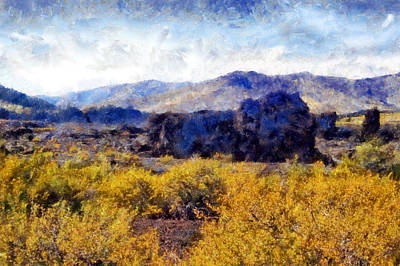 Digital Art - Craters Of The Moon Scoria Field by Kaylee Mason
