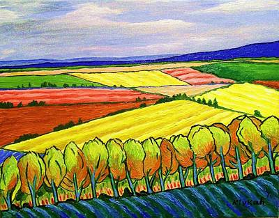 Fauvist Style Painting - Crau Fields by Rivkah Singh
