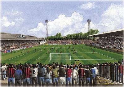 Sports Paintings - Craven Cottage - Fulham by Kevin Fletcher