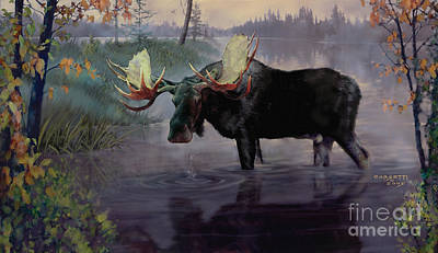 Painting - Craven Moose by Rob Corsetti