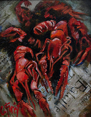 Crawdaddies Art Print by Carole Foret