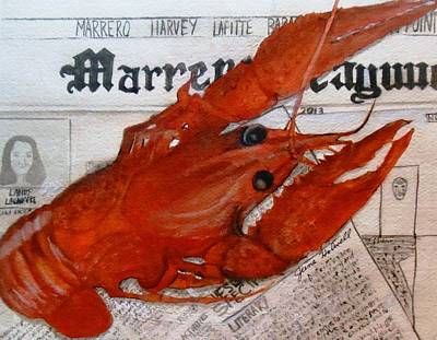 Painting - Crawdaddy by June Holwell