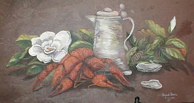 Boiled Crawfish Painting - Crawfish Boil by Brenda Romero
