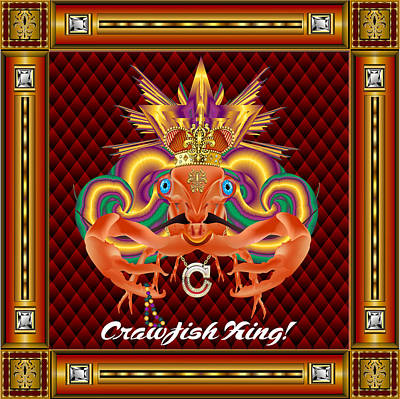Crawfish-king-1 Vector Sample Art Print