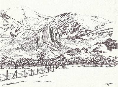 Drawing - Crawford Needle Rock by Dale Jackson