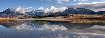 Photograph - Crawford Reservoir And The West Elk Mountains by Eric Rundle