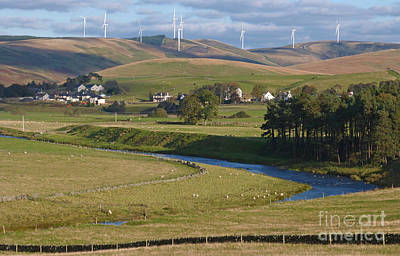 Southern Uplands Wall Art - Photograph - Crawford Windfarm - Scotland by Phil Banks