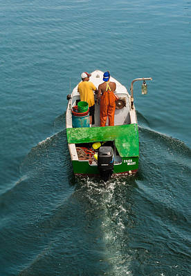 Photograph - Crayola Lobsterboat by Thomas Lavoie