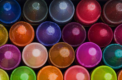 Photograph - Crayons by Don Schwartz