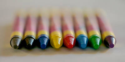 Art Print featuring the photograph Crayons by Robert  Aycock