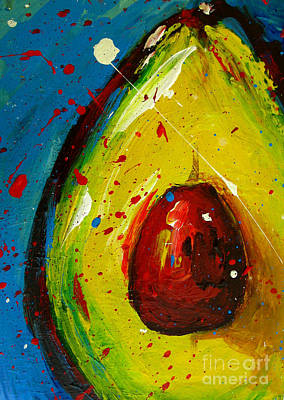 Food And Beverage Painting - Crazy Avocado 4 - Modern Art by Patricia Awapara