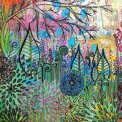 Background Photograph - Crazy Canvas #doodling #background by Robin Mead
