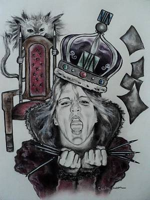 Drawing - Crazy Carla Queen Of Charcoal Land by Carla Carson